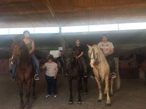 actividad de grupo con pacientes trastorno limite de la personalidad con caballos